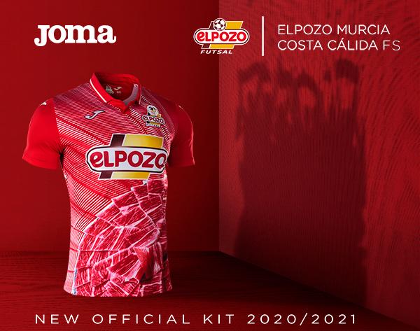 Equipaciones oficiales ElPozo Murcia Costa Cálida FS 2020/2021